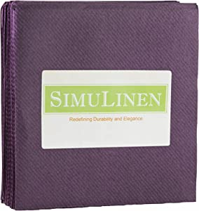 SimuLinen Colored Cocktail/Beverage Napkins - Plum - Decorative, Absorbent, Cloth Like & Disposable - (Pack of 250)