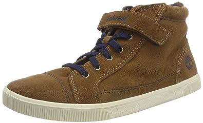 06cf22ac87d16 Timberland Unisex Kid's Abercorn Bungee/Strap Chukka Boots Dark Brown Suede  P01, 8.5 (