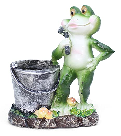 Tied Ribbons Miniature Frog Statue   Garden Decor Items   Garden Decor For Balcony   Outdoor Decor Animals   Christmas Decor For Home