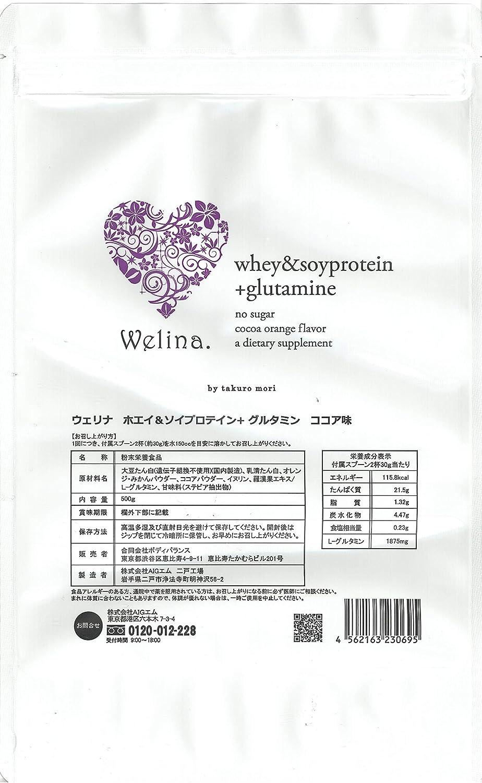ウェリナ ホエイ&ソイプロテイン 新ココア味 500g