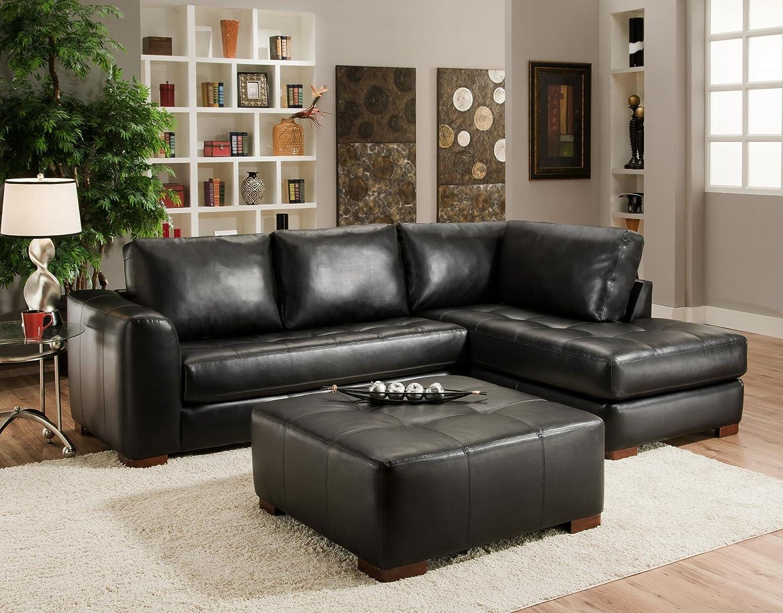Amazon.com: Chelsea Home Furniture Madison 2 Piece Sectional, Capri Black:  Kitchen U0026 Dining