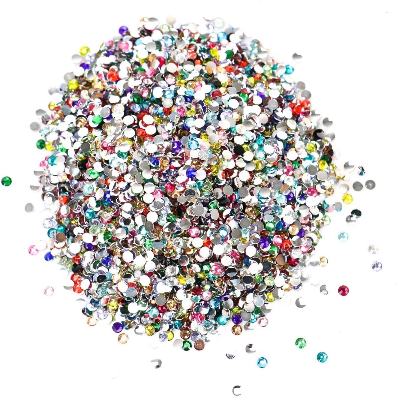 Muticolor Crystal Gems5-12 mm for DIY Craft 9 Shapes Rhinestones /& Jewels Stickers Yesland 1800 Pcs Gems Acrylic Flatback Rhinestones Gemstone Embellishments