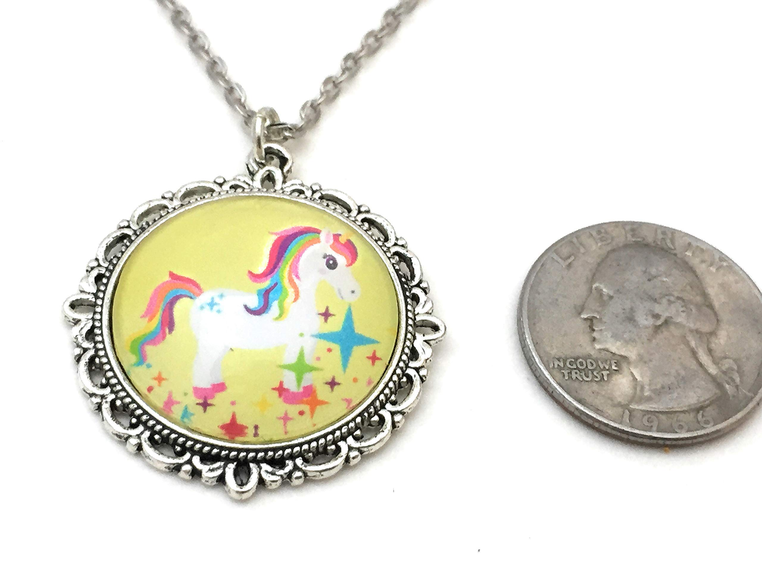 Unicorn Necklace - Rainbow Colors - Handmade 6