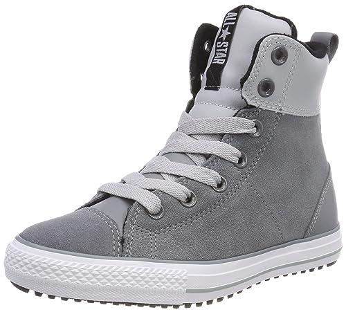 converse all star niños outlet, Zapatillas abotinadas grises