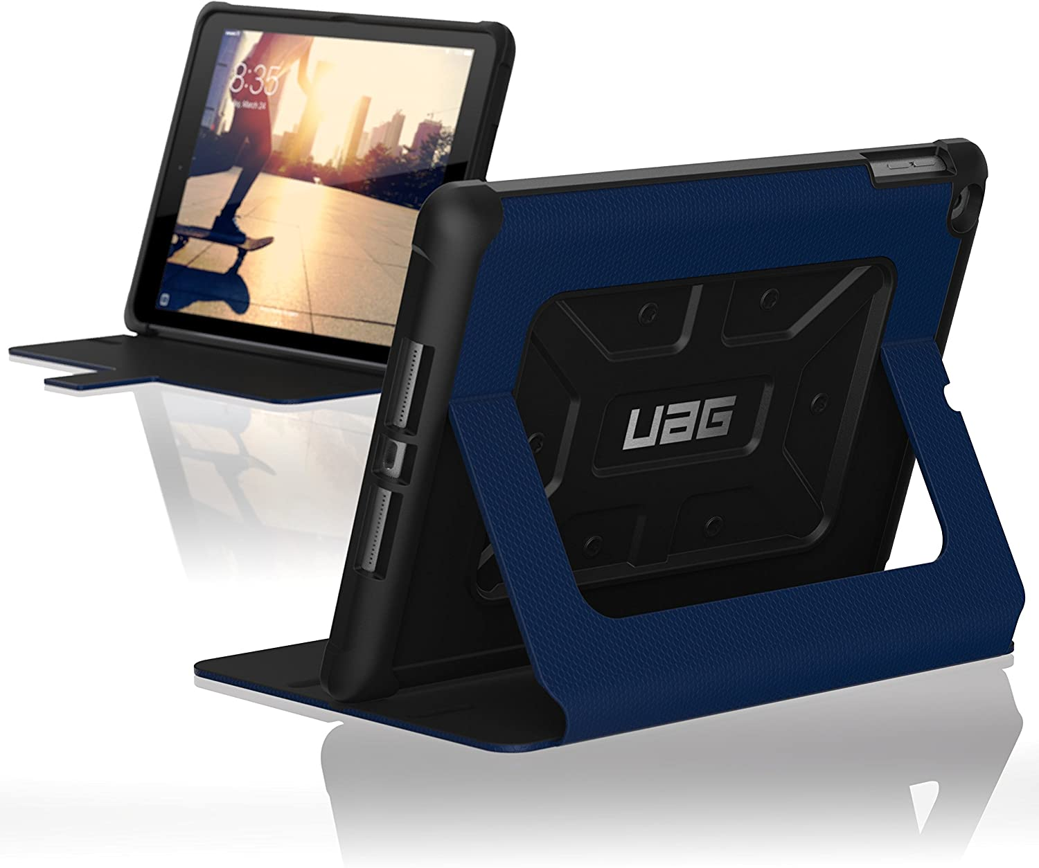 URBAN ARMOR GEAR UAG iPad 9.7-inch (2017 5th Gen & 2018 6th Gen) Folio Case Metropolis Feather-Light Rugged Military Drop Tested Cover, Cobalt