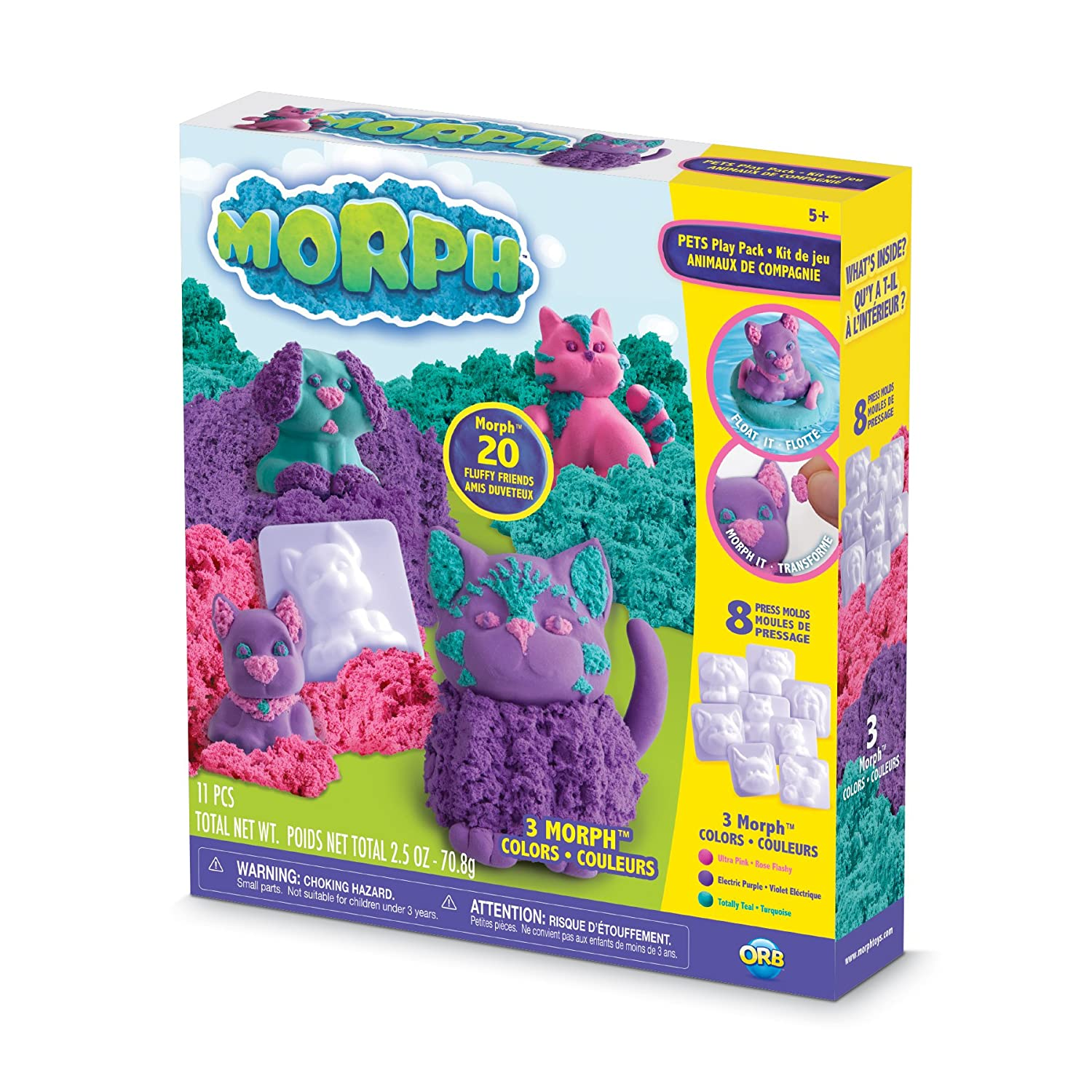 The Orb Factory Morph Pets Play Pack Compound Playset Purple Pink Teal White 10 x 2 x 9