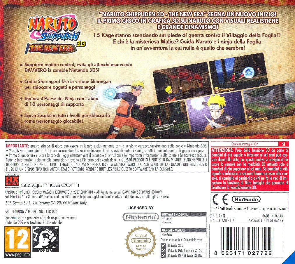 Naruto Shippunden 3D The New Era [Importación italiana ...