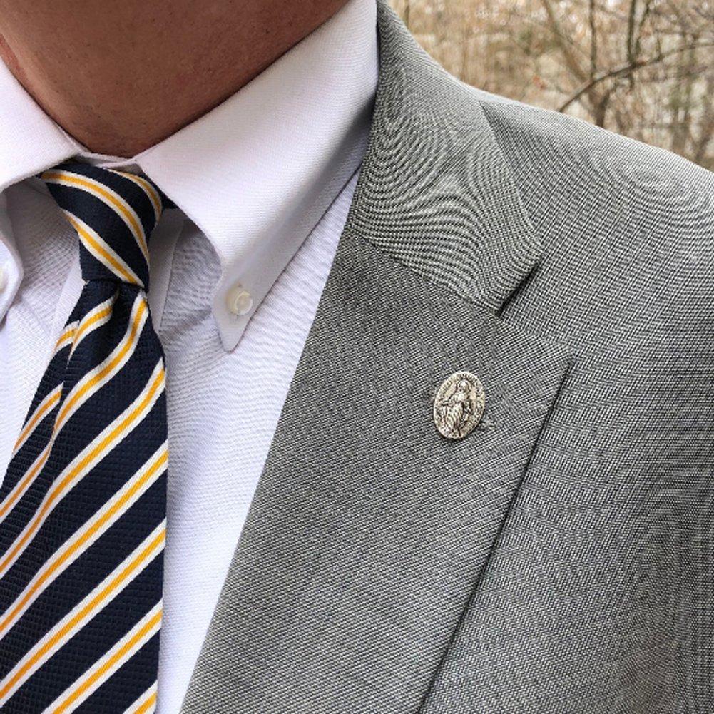Amazon.com: Mother Mary Collector Lapel Pin Tie Tac Sagrado Corazón Gemelos Mancuernas Santa Cruz: Jewelry