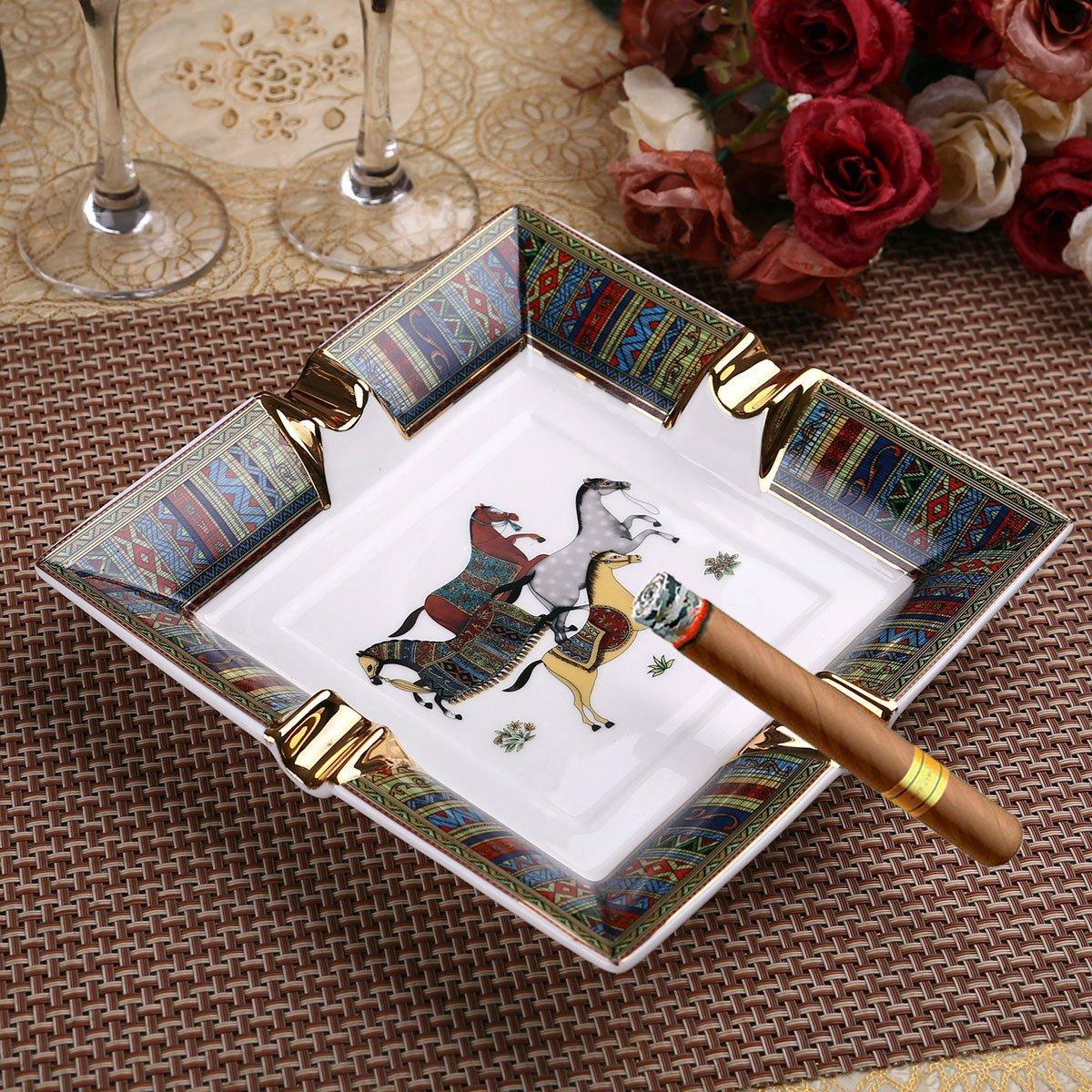 Scotte European style ceramic cigar ashtray top grade Luxury ashtray creative living room KTV Furnishing articles