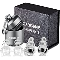 Ear Plugs Musician, Ear Plugs Concert, Professional Music Ear Plugs for Musicians/Concerts/Nightclubs/Live Events/Airplanes (Premium Gift Box Packaging),Black-CybGene