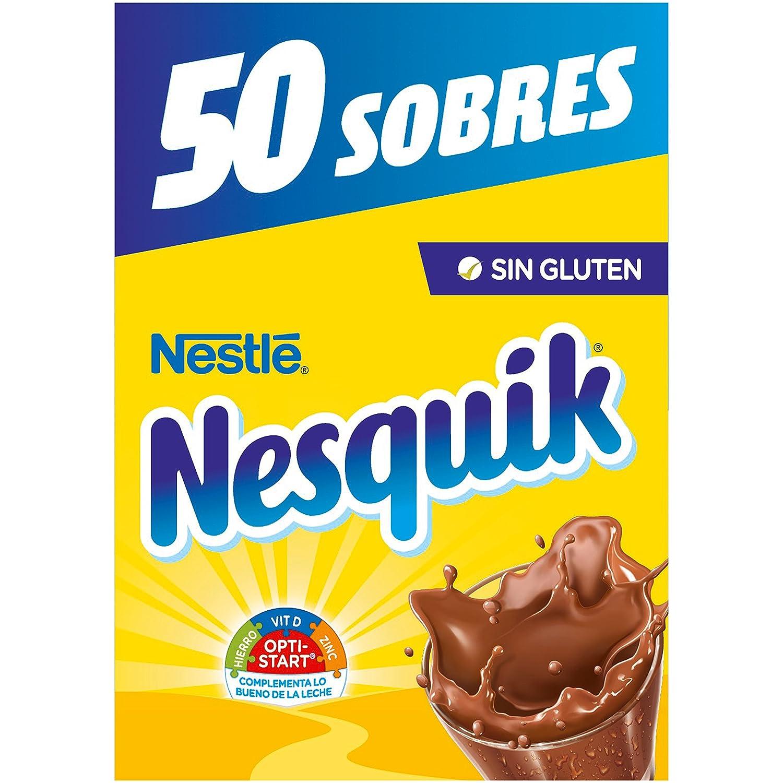 Nestlé Nesquik cacao soluble instantáneo - Estuche de 50 sobres de cacao soluble (50x14g)