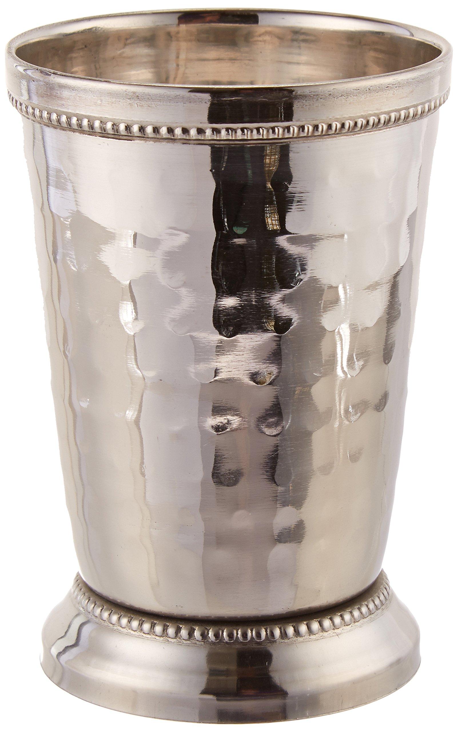 Elegance 12 oz Hammered Mint Julep Cup, Large, Silver by Elegance (Image #1)