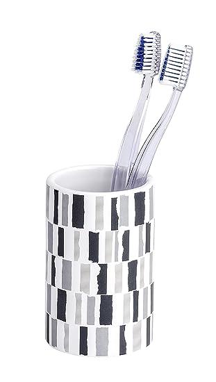 Wenko Vaso para Cepillos de Dientes, Cerámica, Blanco, 7x7x275 cm: Amazon.es: Hogar