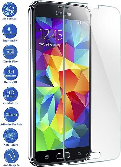 Todotumovil Protector de Pantalla Samsung Galaxy S5 Neo G900F de Cristal Templado Vidrio 9H para movil: Amazon.es: Electrónica