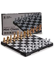 Yellow Mountain Imports Magnetic Travel Chess Mini-Set - 16 Centimeters