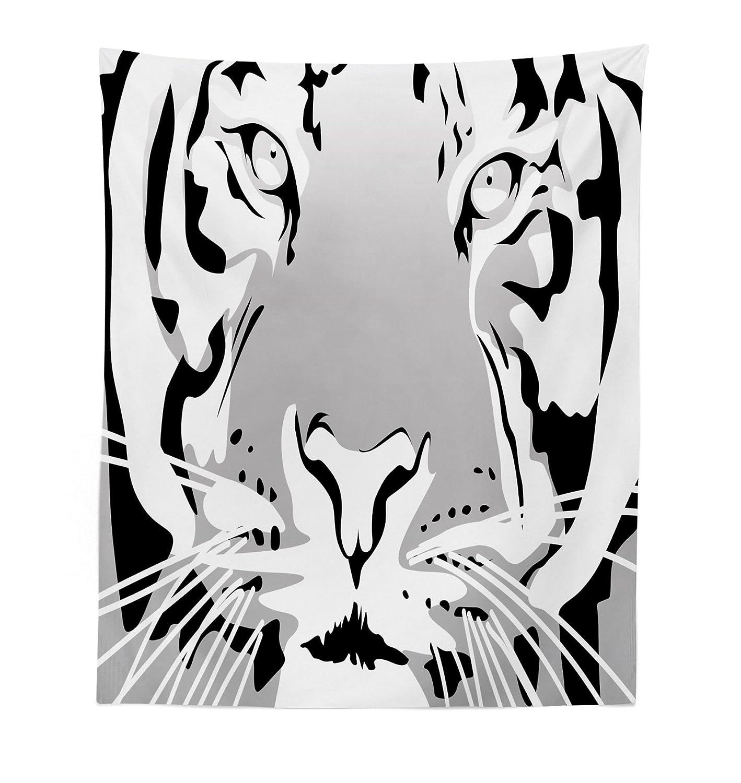 Lunarable Animal Tapestry, Safari African Asian Wildlife Animal Tiger Big  Cat Abstract Image Artwork, Fabric Wall Hanging Decor for Bedroom Living  Room Dorm ...