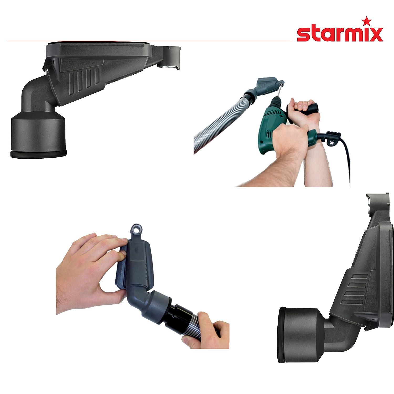 Starmix 11370 Bohrfixx Patentierte Bohrstaub-D/üse Zum Staubfreien Bohren Auf Allen Oberfl/ächen