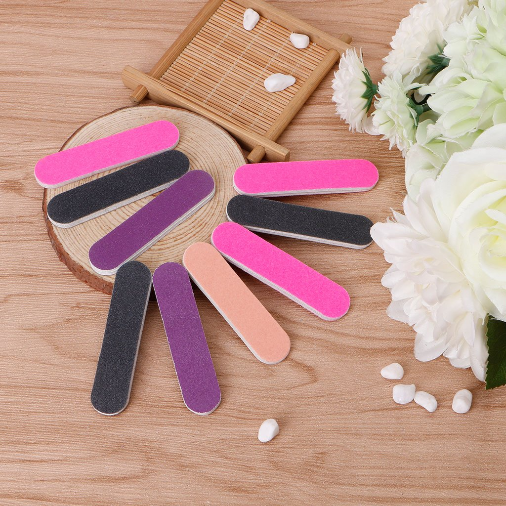 Milue Nail Files Sandpaper Round Double Side Nail Art Tips Manicure For Salon Home Use by Milue (Image #4)
