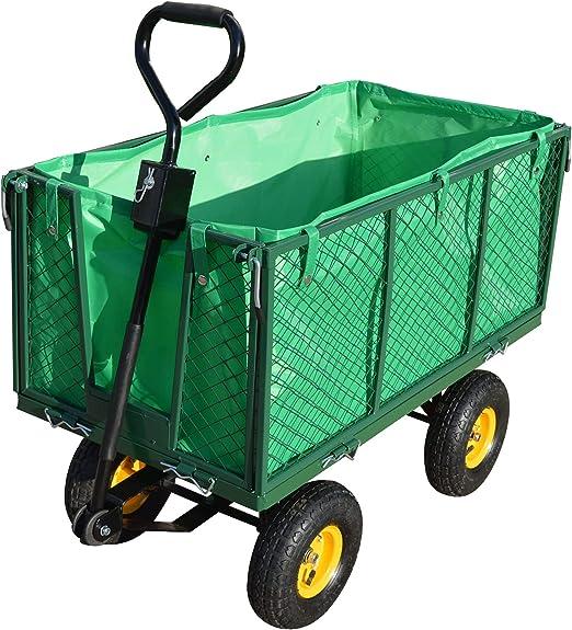 LeMeiZhiJia - Carro de jardín, Carro de Mano, Lona extraíble, Carro de Transporte, Carretilla de Mano para Jardines, Plantas, Frutas, mercancías: Amazon.es: Jardín