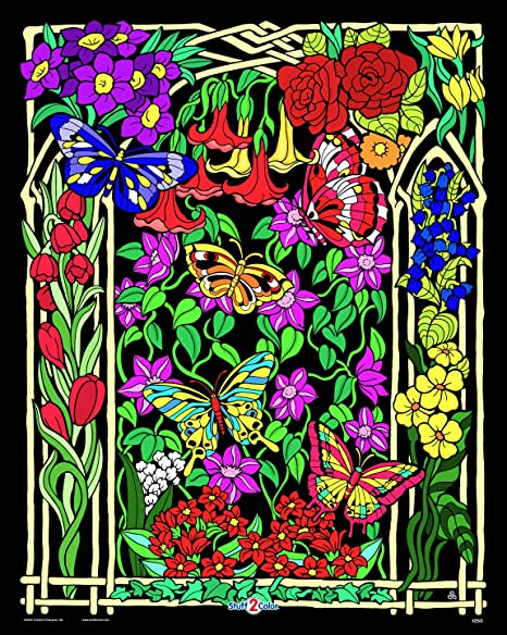 Amazon.com: Stuff2Color Butterflies And Flowers - Beautiful Velvet Coloring  Poster (Arrives Uncolored) - For Kids And Adults: Childrens Arts And Crafts  Supplies: Posters & Prints