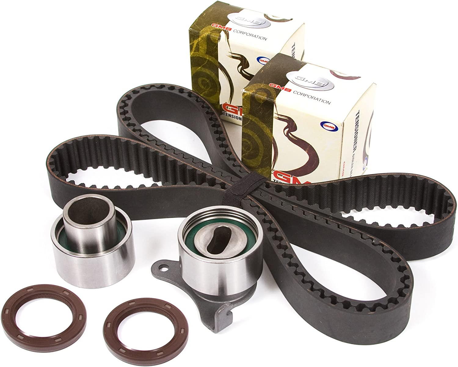 Evergreen TBK136WPT Fits Toyota 3E 3EE SOHC Timing Belt Kit w//Water Pump Evergreen Parts And Components