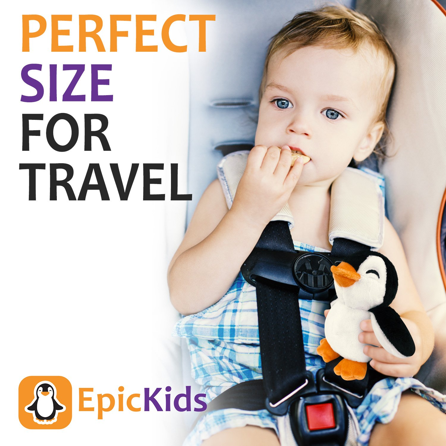Stuffed Animal Toy Suitable For Babies and Children EpicKids Penguin Plush 5 Inches