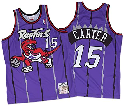 4d836e9660d Mitchell & Ness Vince Carter Toronto Raptors Authentic 1998 Purple NBA  Jersey