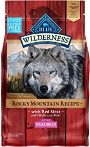 Blue Buffalo Wilderness Rocky Mountain Recipe High Protein Grain Free, Natural Adult Small Breed Dry Dog Food