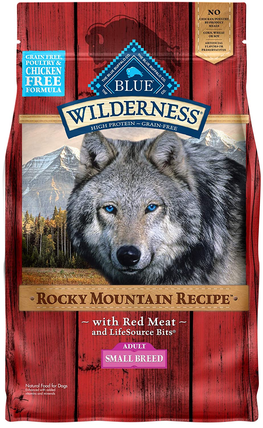 2.Blue Buffalo Wilderness Rocky Mountain Recipe Small Breed Grain-Free Dry Dog Food