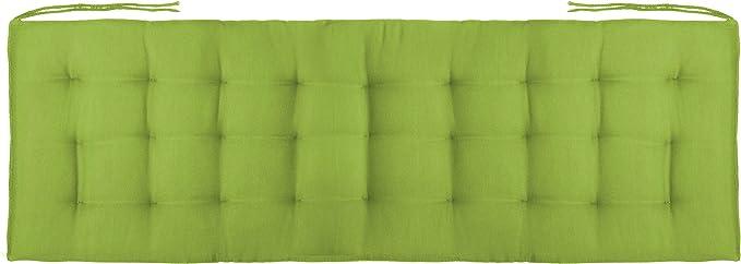 Brandsseller Coussin de banc avec 27 surpiq/ûres pour int/érieur//ext/érieur 120 x 40 x 4 cm 120x40x4cm vert clair