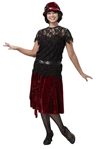 1920s Day Dresses, Tea Dresses, Mature Dresses with Sleeves FunCostumes Toe Tappin Flapper Plus Size Womens Costume $44.99 AT vintagedancer.com