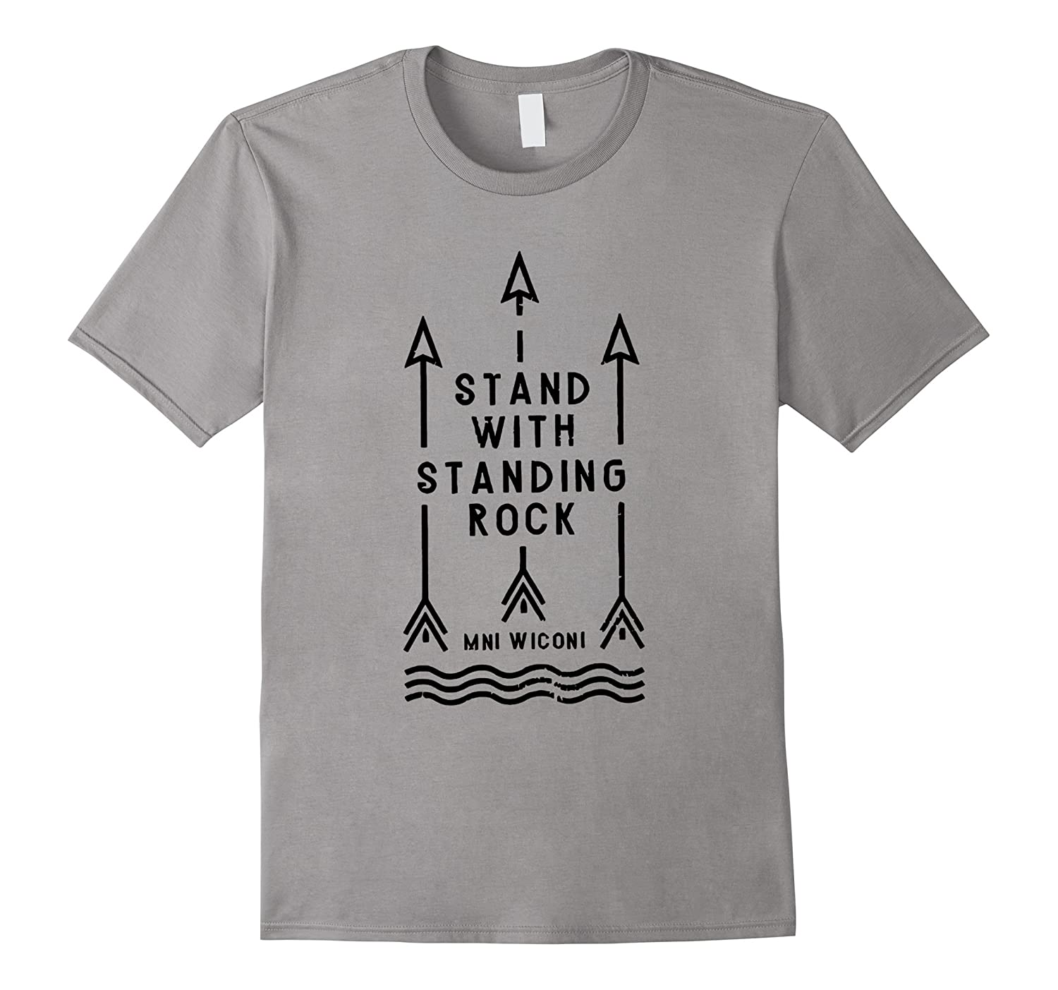 Original I Stand With Standing Rock T Shirt MNI WICONI-BN