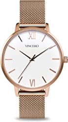 Vincero Luxury Women's Eros Wrist Watch with a Mesh Watch Band — 38mm Analog Watch — Japanese Quartz Movement