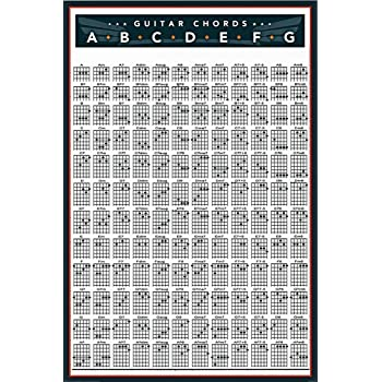 Amazon Trends International Guitar Chords Wall Poster 22375 X