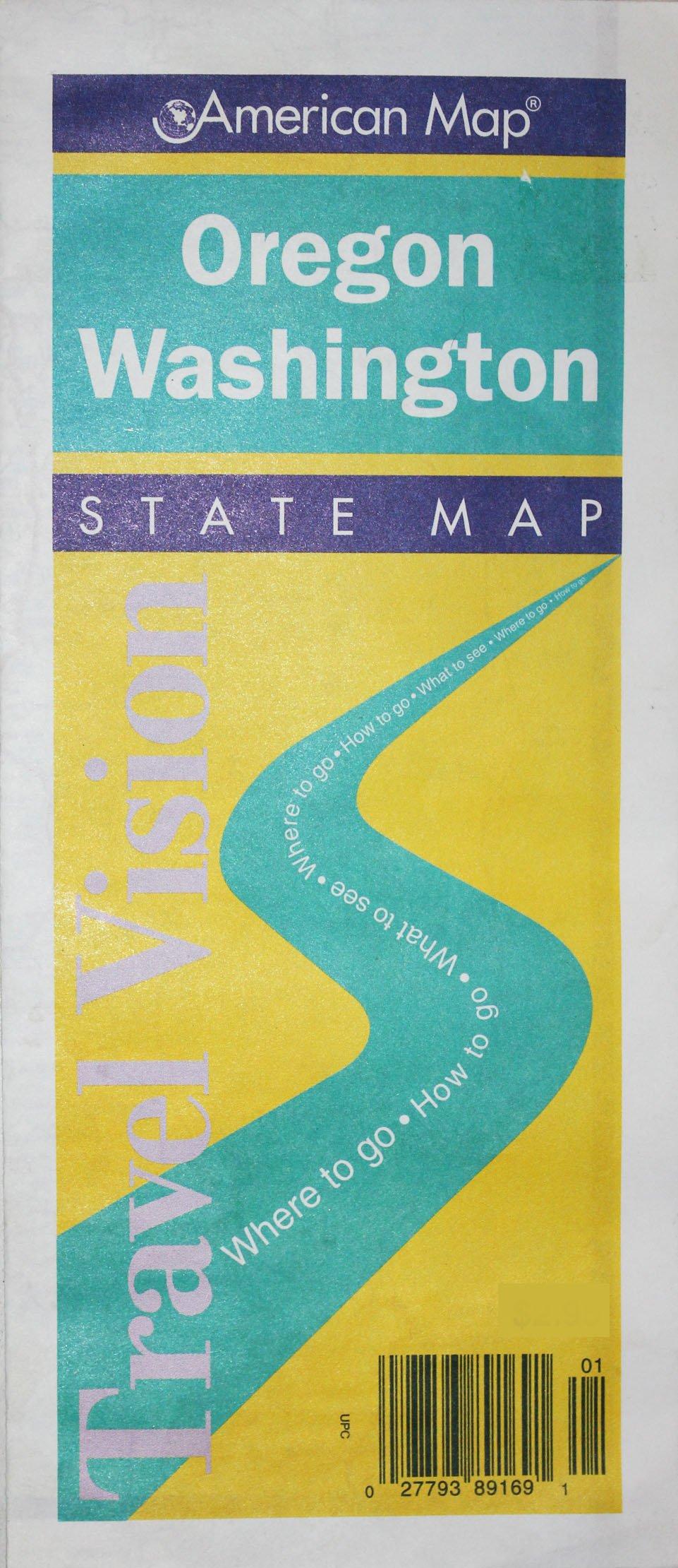 Oregon Washington Road Map Travelvision State Maps American Map