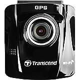 Transcend TS16GDP220A DrivePro 220 Full-HD Autokamera (6,1 cm (2,4 Zoll), Farbdisplay, inkl. 16GB microSDHC Speicherkarte, MLC, WiFi, Speed Alarm) schwarz