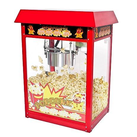 Safstar Popcorn Maker Machine Red Tabletop Popper Maker 8 Ounce Kettle Popper  Popcorn Cart (Popper