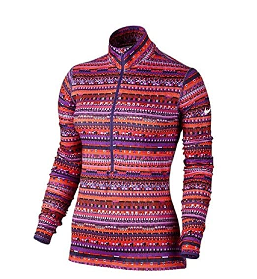 ad61dde0 Amazon.com: Nike Women's Dri-Fit Pro Warm 8 Bit 1/2 Zip Training ...