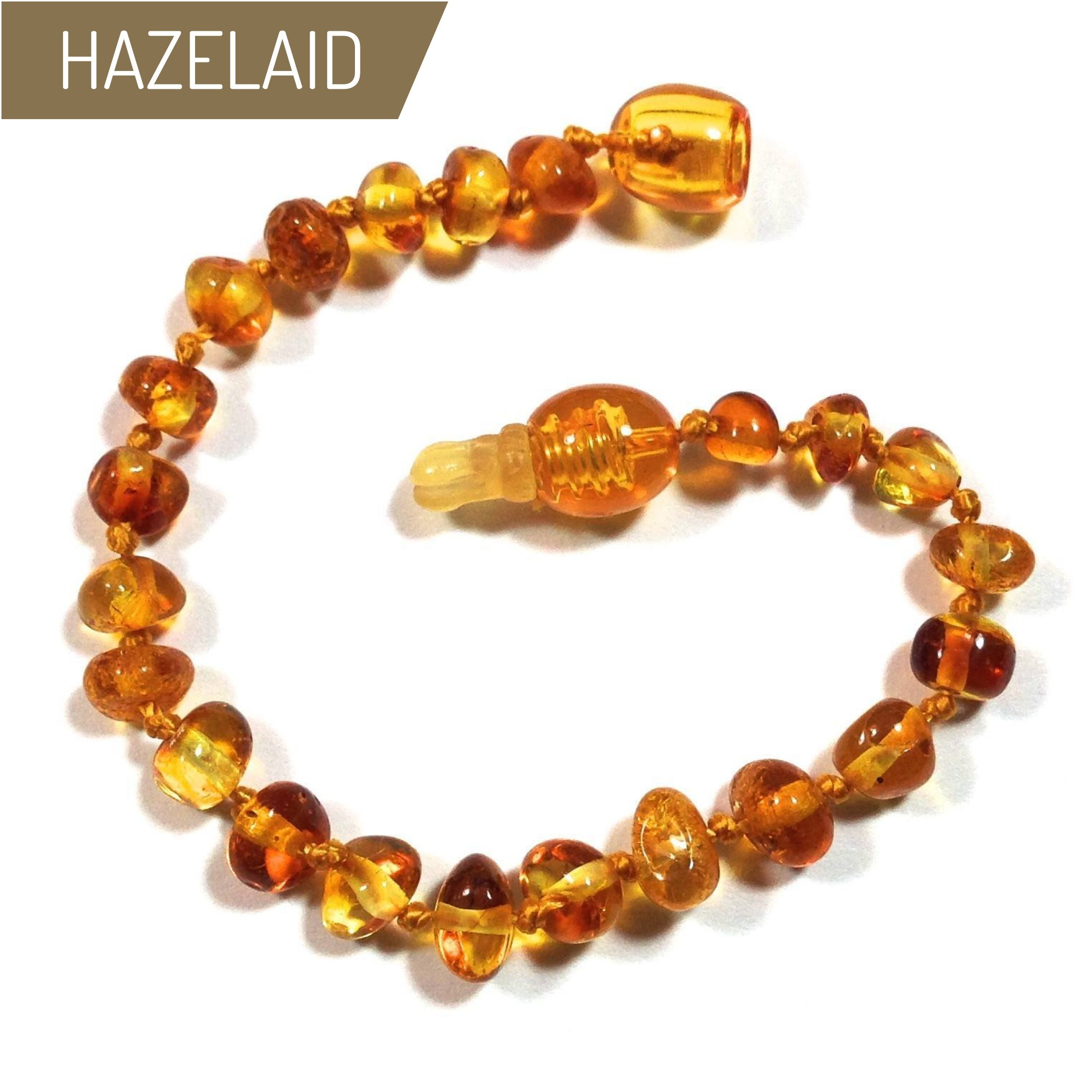 Hazelaid (TM) 5.5'' Pop-Clasp Baltic Amber Honey Bracelet