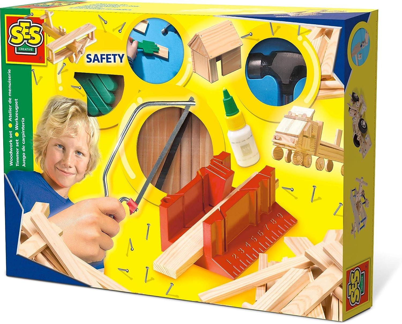 SES Ses-944 Set de carpintería niños, Multicolor (00944)