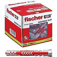 fischer DUOPOWER 10 x 80-universele pluggen voor het bevestigen van hangkasten, wandplanken in beton, metselwerk…