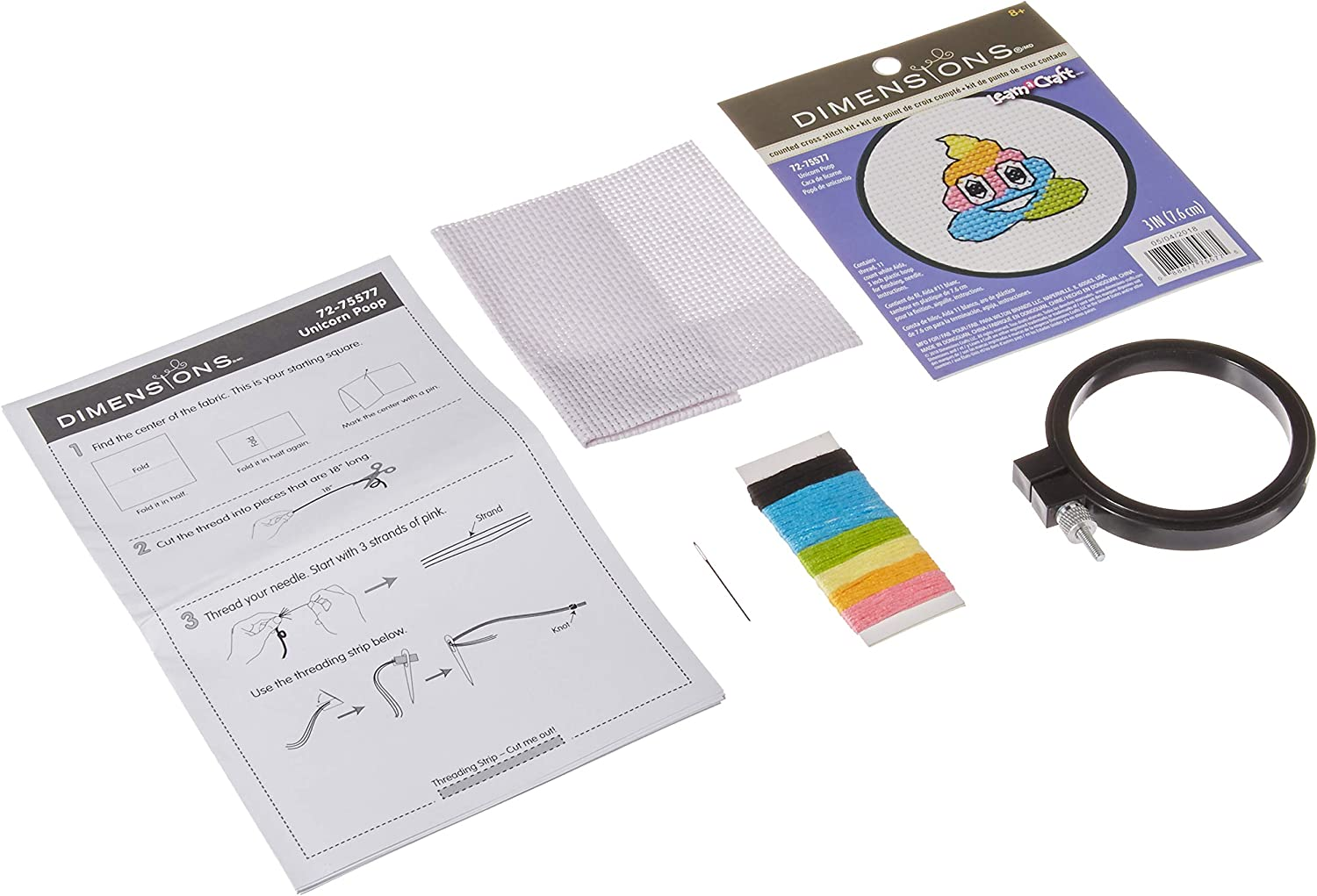 Dimensions Learn-A-Craft Robot Mini Counted Cross Stitch Kit for Beginners 3