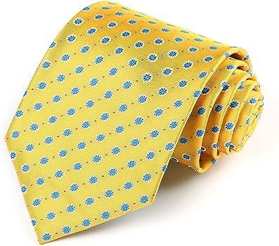 HISDERN Dot Floral Wedding Tie Panuelo para hombres Corbata y ...