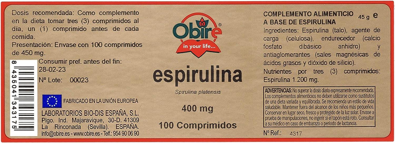 Espirulina 400 mg. 100 comprimidos: Amazon.es: Salud y cuidado personal