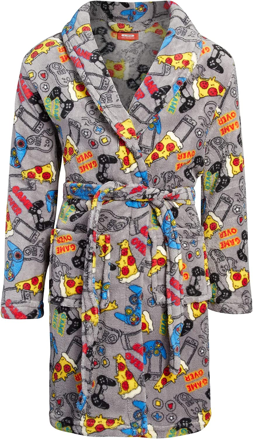 MAC HENRY Boys Coral Fleece Printed Robe More Patterns Available