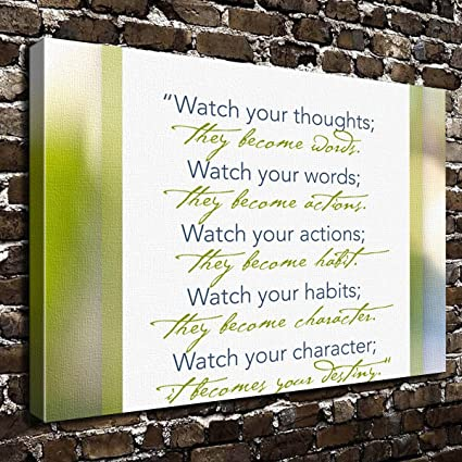 Amazoncom Colorsforu Watch Your Thoughts Educational Quotes Custom