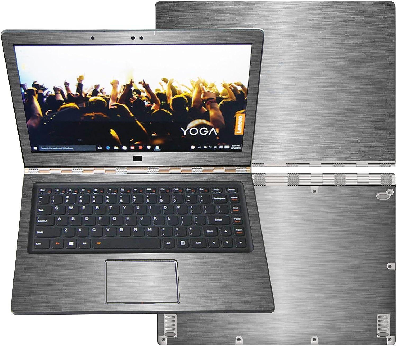 "Decalrus - Protective Decal for Lenovo Yoga 900 2-in-1 (13.3"" Touchscreen) Laptop Titanium Texture Brushed Aluminum Skin Carbon Fiber Skins Decal for case Cover wrap BAyoga900Titanium"