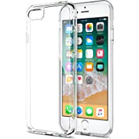 iPhone 8 7 Case, Trianium [Clarium Series] Protective Cover for Apple iPhone 7 8 Case [Shock Absorption] Reinforced Corner TPU Bumper Cushion + Scratch Resistant Hybrid Rigid Clear Back - Clear
