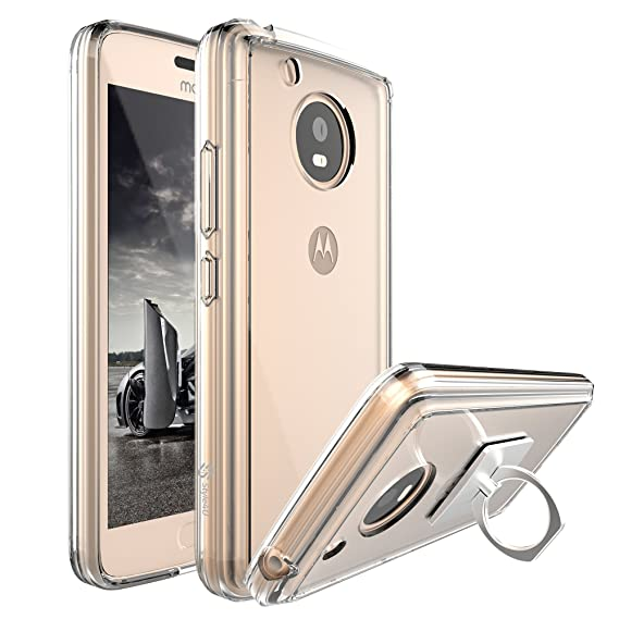 best service 8ebb8 2764d Moto E4 Case, Moto E (4th Generation) Case, Style4U Scratch Resistant Shock  Absorbent Slim Clear PC Back TPU Bumper Protective Case Cover for Motorola  ...