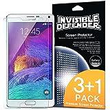 Galaxy Note 4 Pellicola Protettiva - Invisible Defender [3+1 Gratuite/Super-Trasparente] Premium HD Super-Trasparente Film con Sostituzione in Garanzia a vita per Samsung Galaxy Note 4